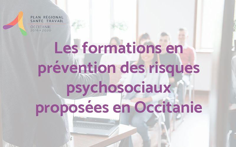 Formations RPS en Occitanie - Recensement des offres proposées par les partenaires régionaux de la prévention