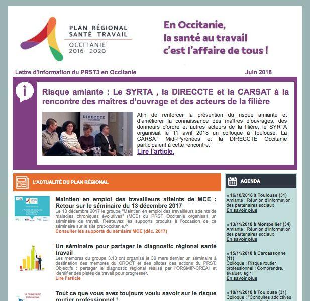 Lettre d'info 2 du PRST3 Occitanie