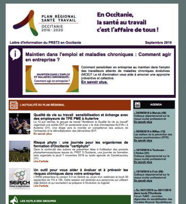 Lettre d'info 5 du PRST3 Occitanie